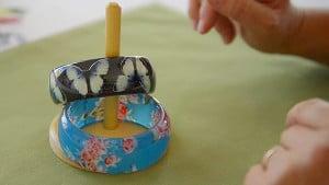 Simple Montessori Activities: bracelets on peg
