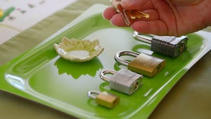 Simple Montessori Activities: locks keys
