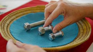 Simple Montessori Activities: nuts bolt
