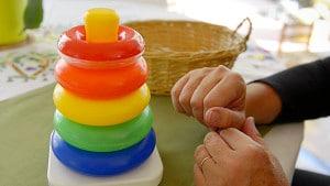 Simple Montessori Activities: ring peg