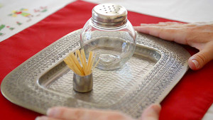 Simple Montessori Activities: shaker & toothpicks