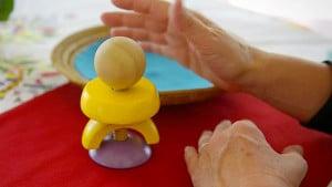 Simple Montessori Activities: wooden bolt