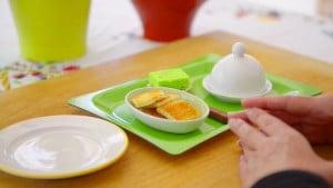 Voila Montessori Food Preparation for Children - Spreading Cream Cheese