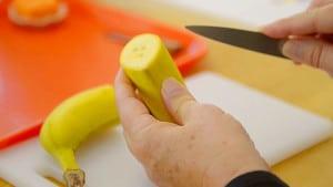 voila montessori Prepping A Banana