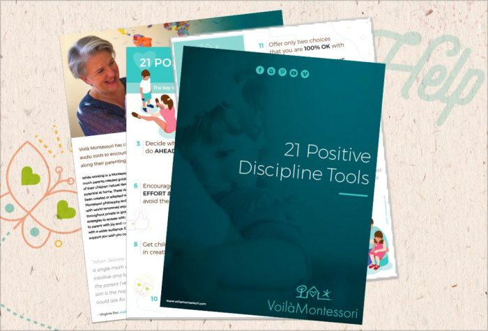 voila montessori ebooks 21 positive discipline tools