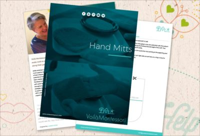 voila montessori ebooks hand mitt DIY