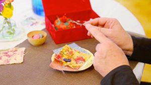 Children Master New Skills Removing a Button