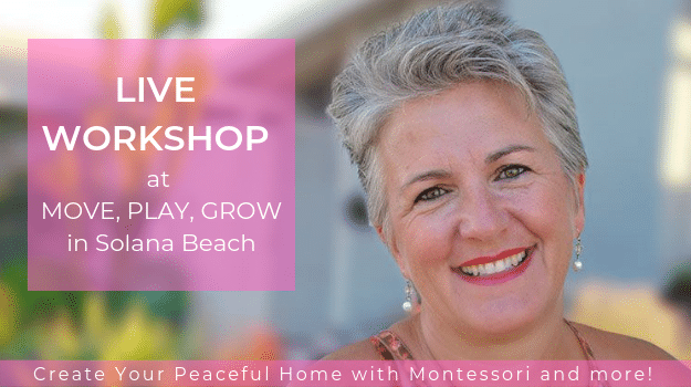Jeanne-Marie Paynel, Live Workshop, Create Your Peaceful Home with Montessori and more